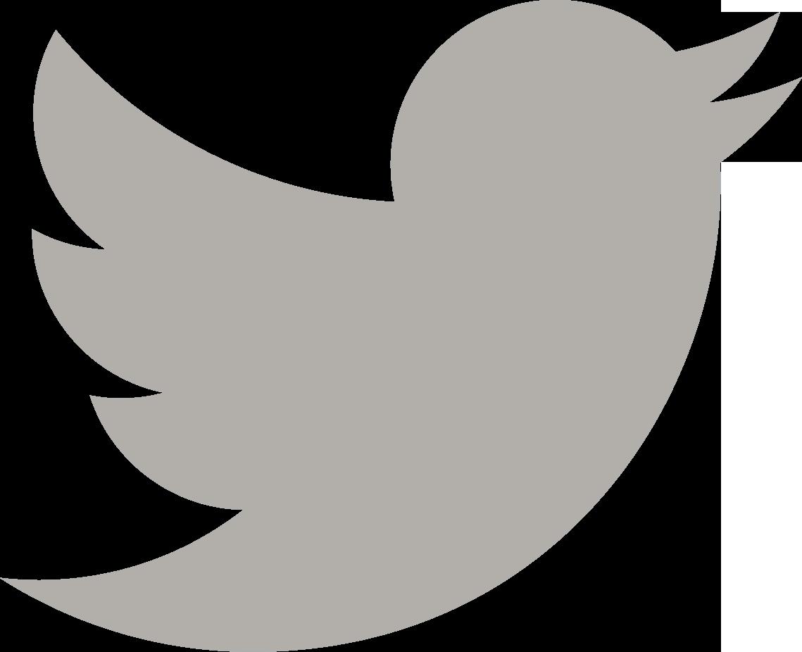 Twitter logo gray